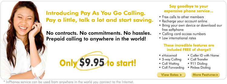 Pay As You Go Calling